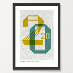 Mid century 2020 year print framed