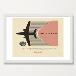 Personalised travel print -  rose