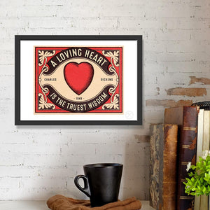 A loving heart art print