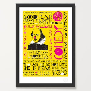 Shakespeare comedy art print