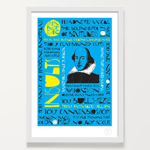 Shakespeare insults art print