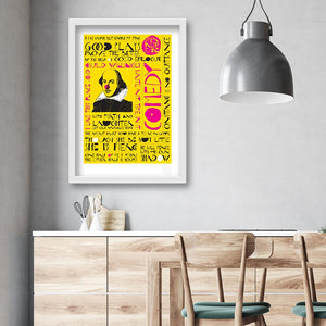 Shakespeare comedy quotes art print