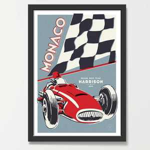 Steel Crimson car print