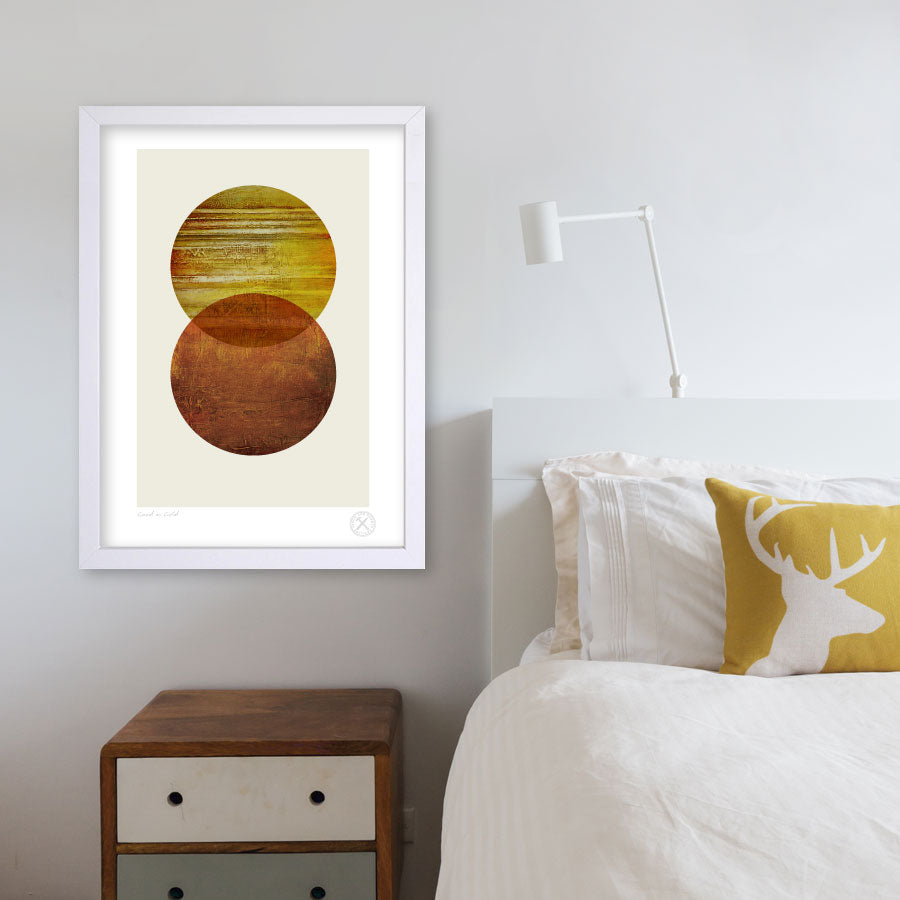 Good as Gold mid century abstract art print
