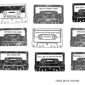 Personalised Mixtape print - detail