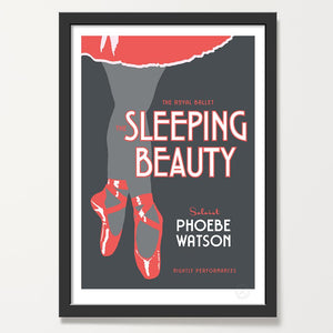 Red ballet personalised print
