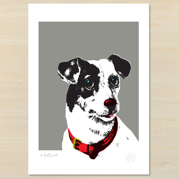 ruff dog art print | pencil and hammer