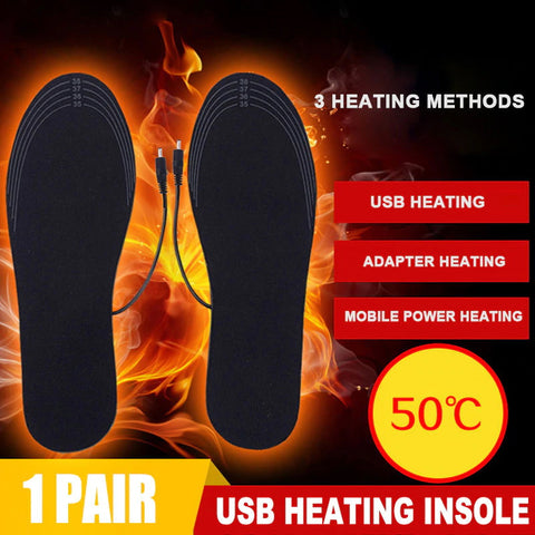 USB Heated Insoles Foot Warming Pad