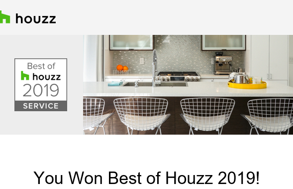Congratulations Signarture - Best of Houzz 2019 Award Winner