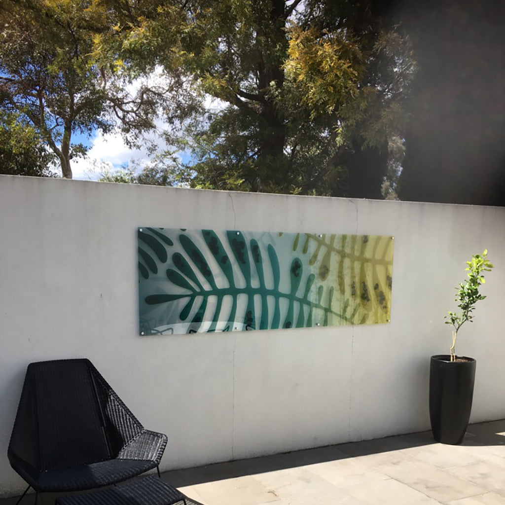 signarture cottesloe perspex outdoor artwork installed in courtyard setting