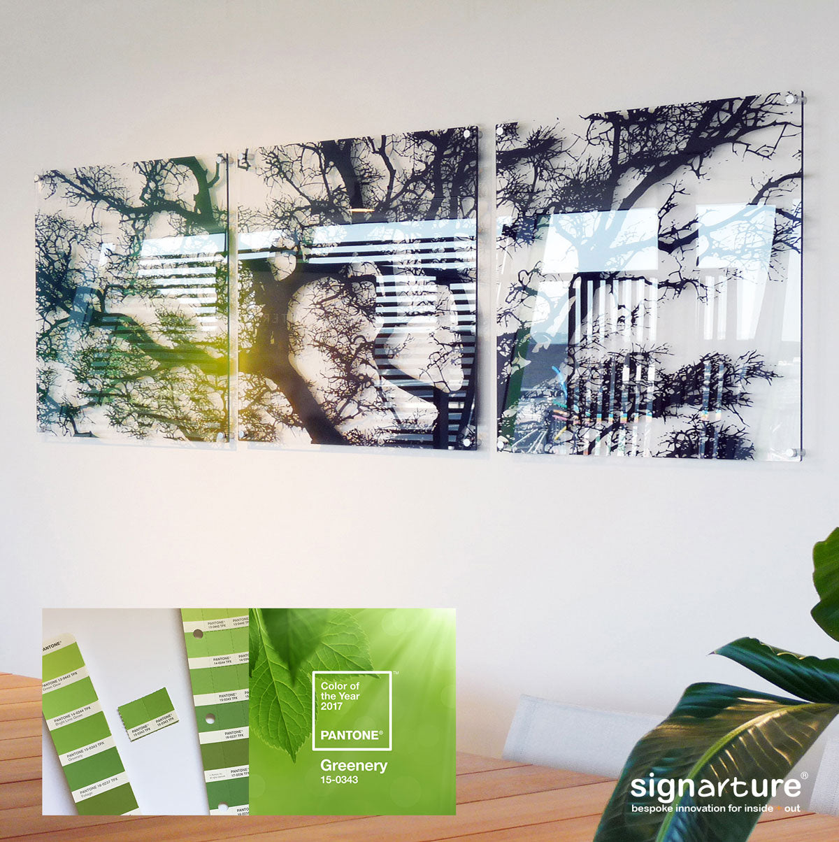 Pantone Colour of the Year 2017 featured in Signarture Perspex Artwork Burrawang