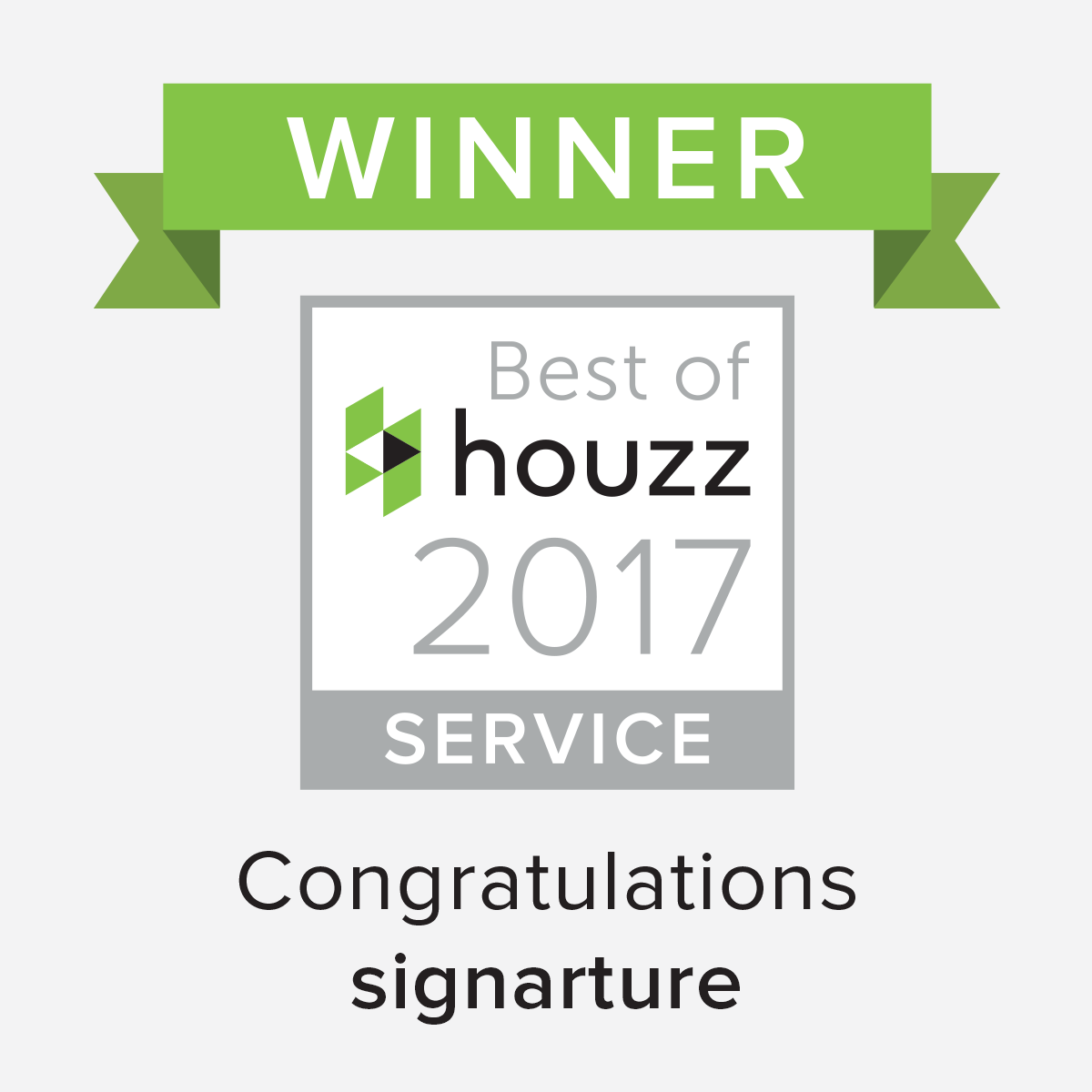 signarture wins best of houzz 2017