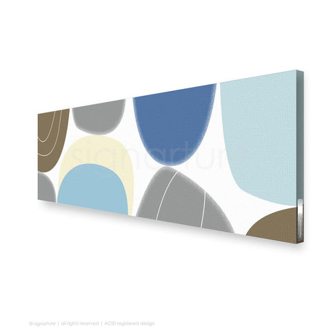 abstract canvas art kathmandu blue panoramic