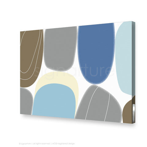 abstract canvas art kathmandu blue rectangular