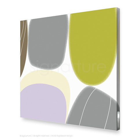abstract canvas art kathmandu green square