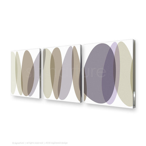 abstract canvas art lhotse purple triptych