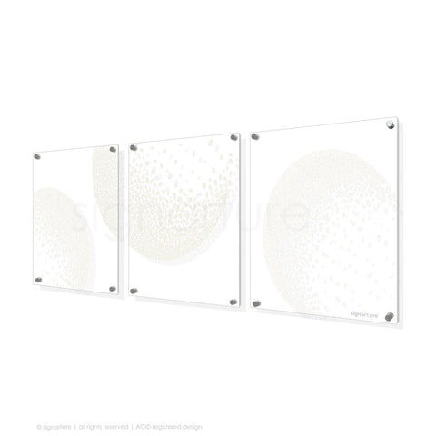 abstract perspex art annapurna white triptych