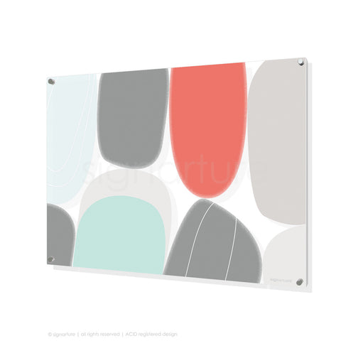 abstract perspex art kathmandu coral rectangular