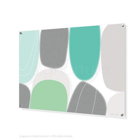 abstract perspex art kathmandu mint rectangular