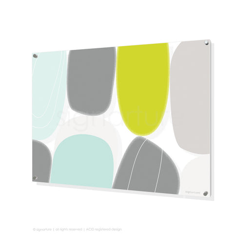 abstract perspex art kathmandu lime rectangular