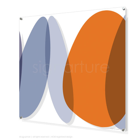 abstract perspex art lhotse orange square