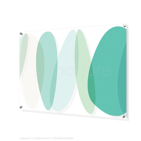 abstract perspex art lhotse mint rectangular