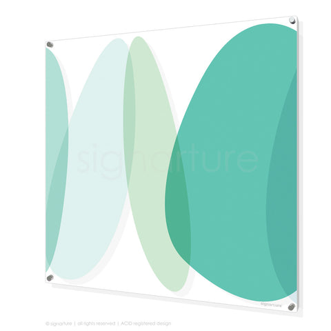 abstract perspex art lhotse mint square