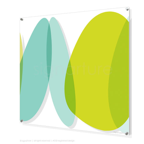 abstract perspex art lhotse green square