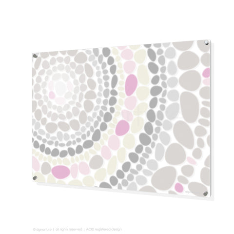 abstract perspex art lumbini pink rectangular