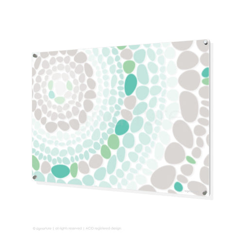 abstract perspex art lumbini green rectangular