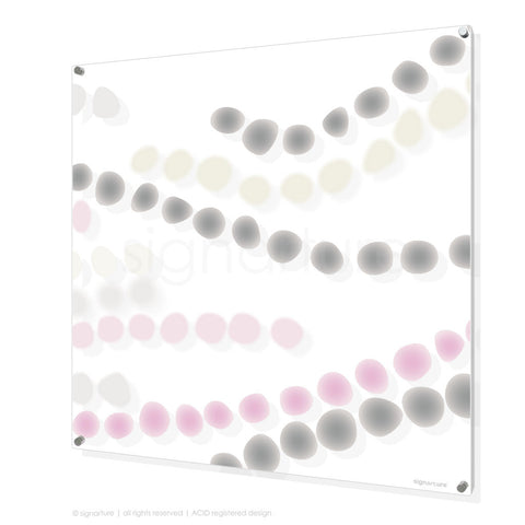 abstract perspex art makalu pink square