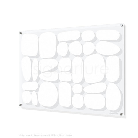 abstract perspex art sarangkot white rectangular