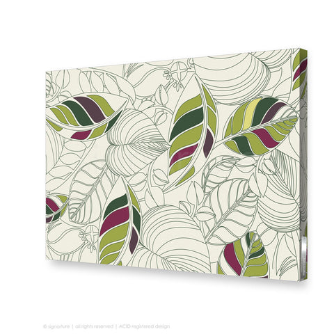 contemporary canvas art bellingen green rectangular