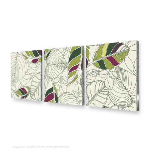 contemporary canvas art bellingen green triptych