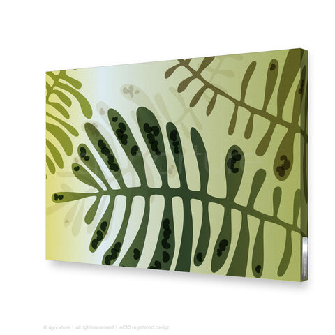 contemporary canvas art cottesloe green rectangular