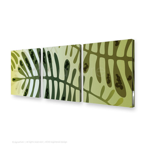 contemporary canvas art cottesloe green triptych