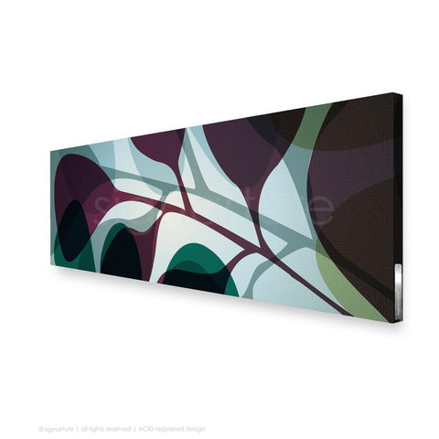 contemporary canvas art kuranda magenta panoramic