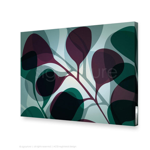 contemporary canvas art kuranda magenta rectangular