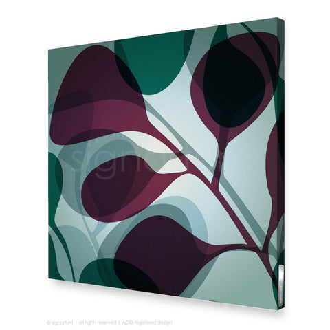 contemporary canvas art kuranda magenta square