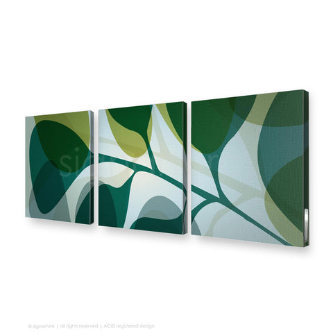 contemporary canvas art kuranda blue triptych