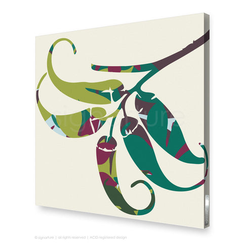 contemporary canvas art lizard island green square