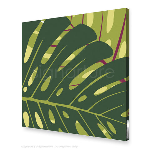 contemporary canvas art noosa yellow square
