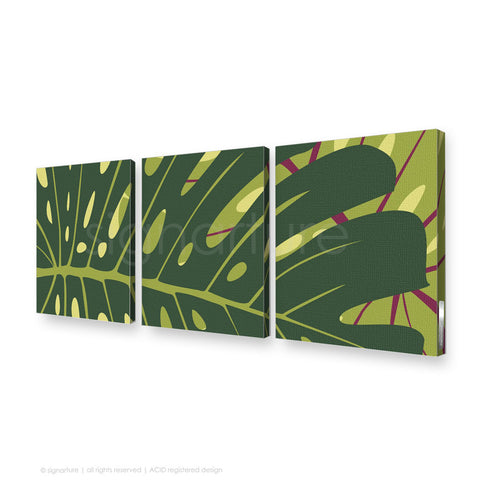contemporary canvas art noosa yellow triptych