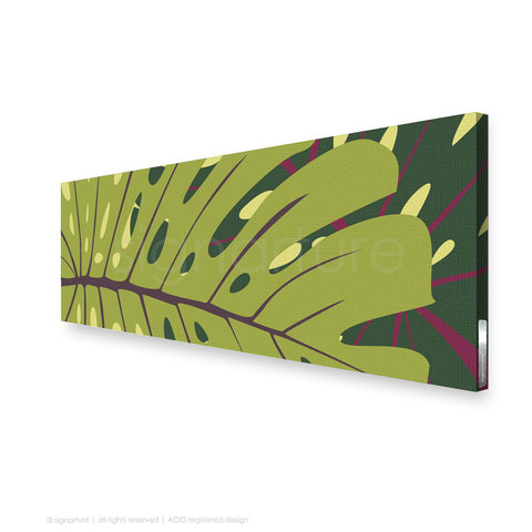 contemporary canvas art noosa green panoramic