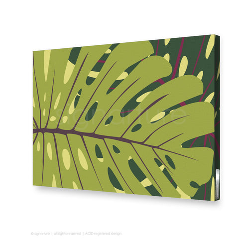 contemporary canvas art noosa green rectangular