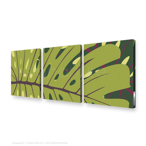 contemporary canvas art noosa green triptych
