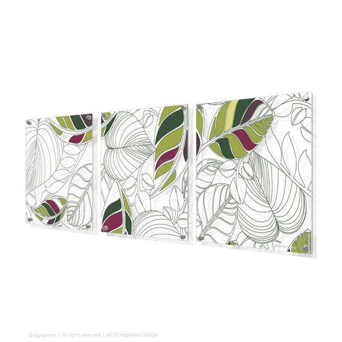 contemporary perspex art bellingen green triptych