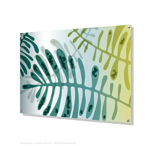 contemporary perspex art cottesloe blue rectangular