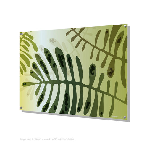 contemporary perspex art cottesloe green rectangular