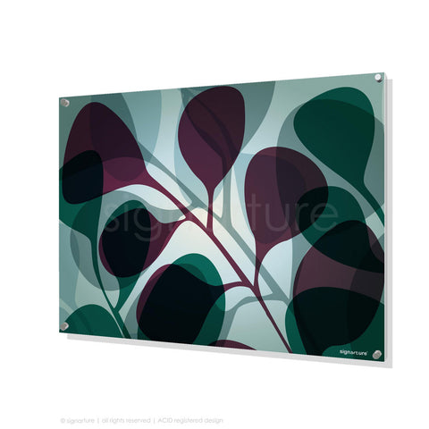 contemporary perspex art kuranda magenta rectangular